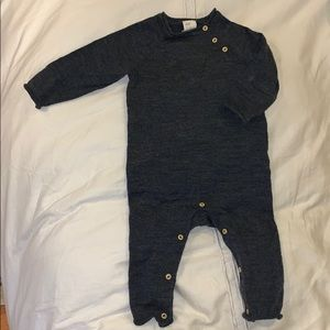 Navy romper with buttons